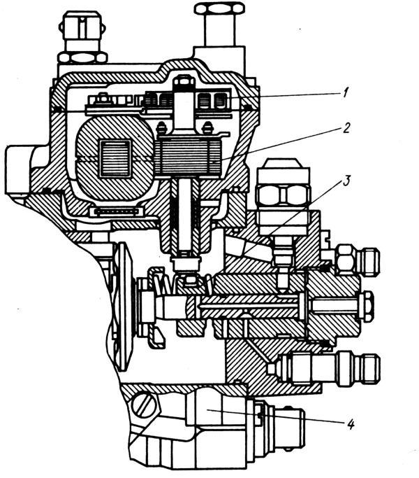 1 - датчик хода дозатора; 2 - исполнительное устройство (электромагнит); 3 - дозирующая муфта; 4 - клапан изменения...