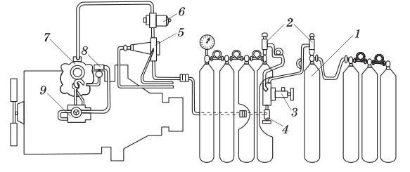 Система питания двигателя, работающего на сжатом газе