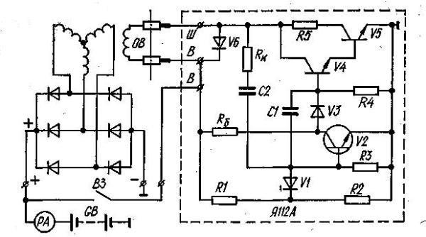 а — схема генераторной