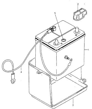 Элементы крепления и подключения аккумулятора