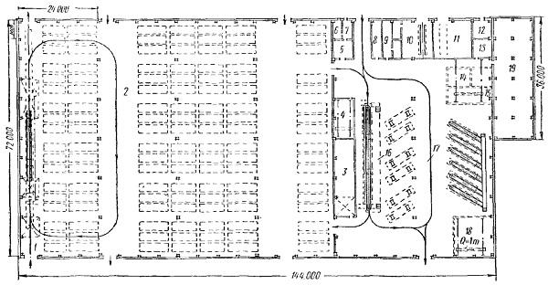 Схема парковки для грузовых автомобилей