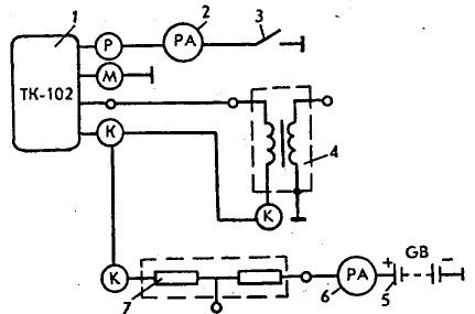 Электрическая схема коммутатора тк