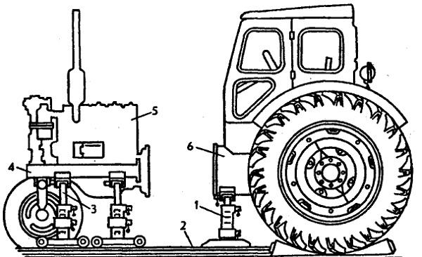 Схема раскатки колесного
