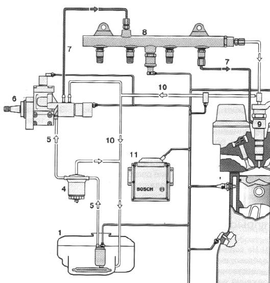Схема аккумуляторной топливной