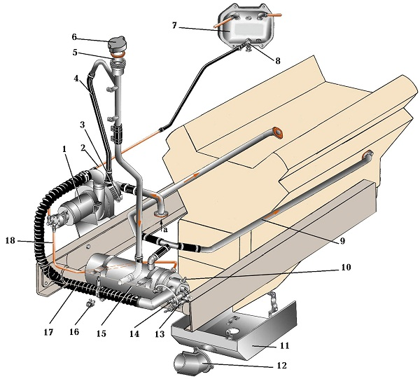 Схема предпускового подогревателя.