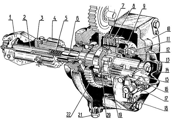 Схема редуктора пускового