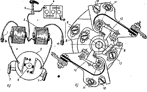 Схема электрооборудования мотоциклов иж 56 иж планета иж юпитер п200 6 звуковой сигнал с37 7 включатель контрольной...