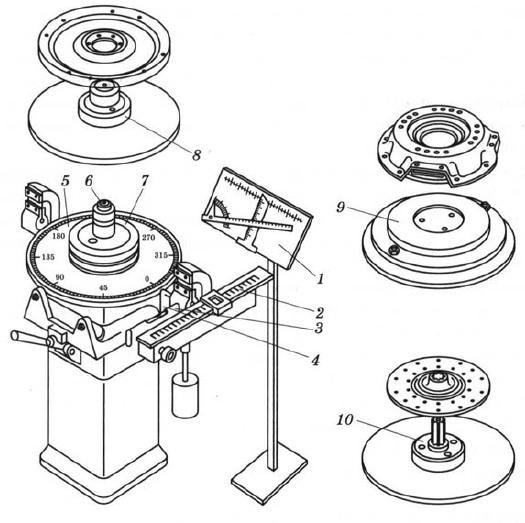 Станок для статической балансировки маховика, шкива, нажимного и ведомого дисков