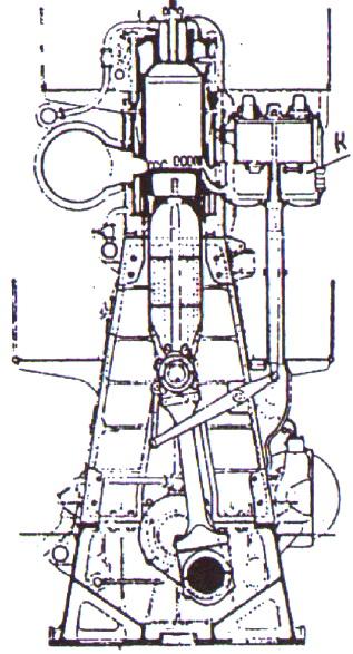 Схема судового двухтактного