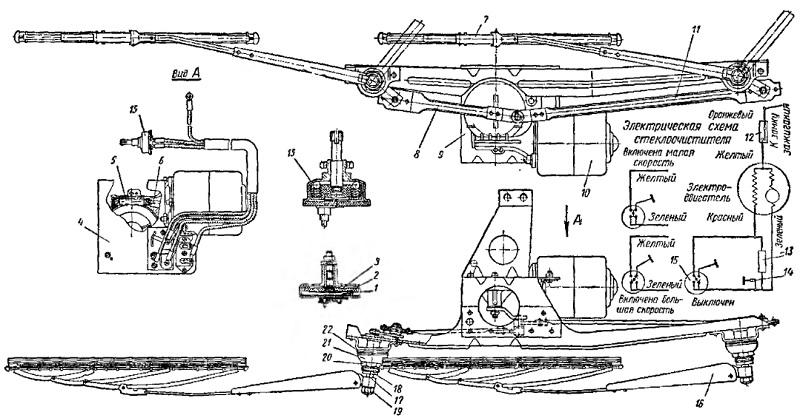 Стеклоочиститель типа CЛ220