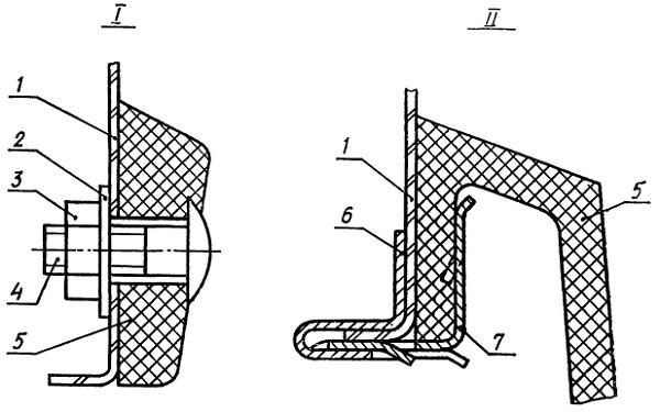 Крепление накладок колесных