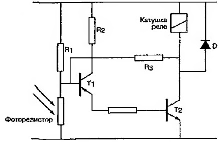 Схема датчика на основе