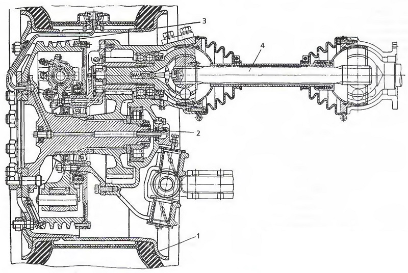 Схема колесного редуктора ЗИЛ-