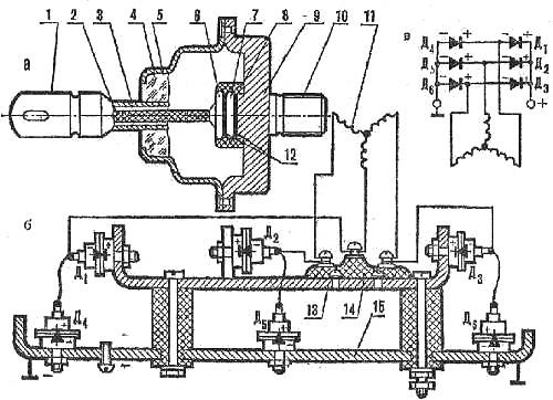 Схема кремниевого выпрямителя