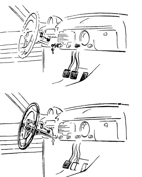 Повороты рулевого колеса передаются передним колесам через вал, рулевой механизм и систему тяг