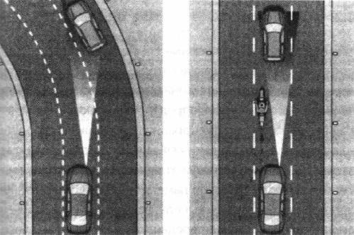 Неточный прогноз полосы движения на повороте влево с маленьким радиусом