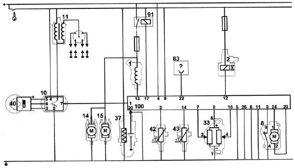 Рис. Электросхема системы