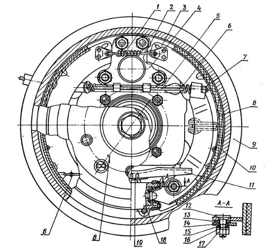5 — трос ручного привода