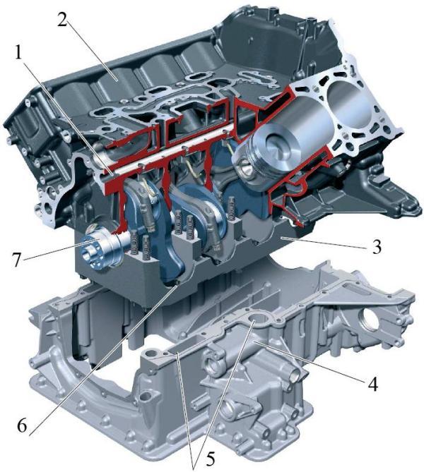 Блок цилиндров двигателя Audi 4,2 л V8 TDI
