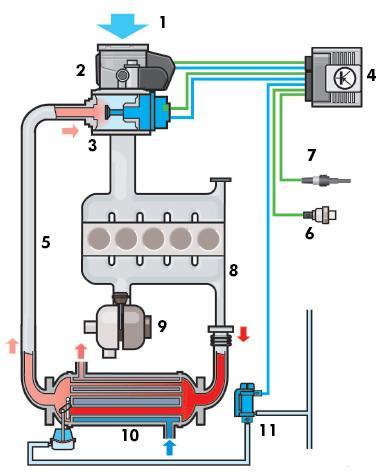 Схема рециркуляции отработавших газов дизельного двигателя