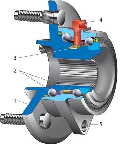 Крепление индуктивного датчика внутри ступицы колеса