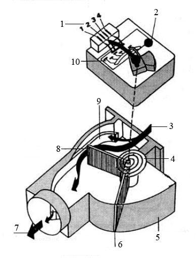 Расходомер воздуха с поворотными заслонками