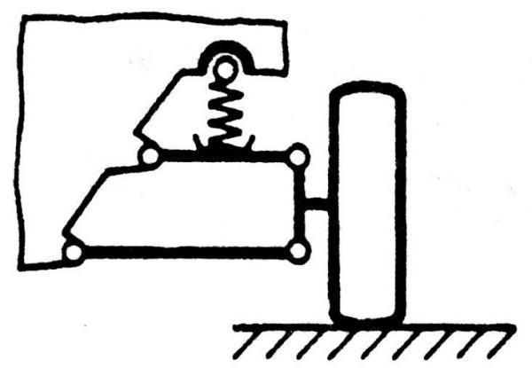 Схема независимой рычажной подвески колес