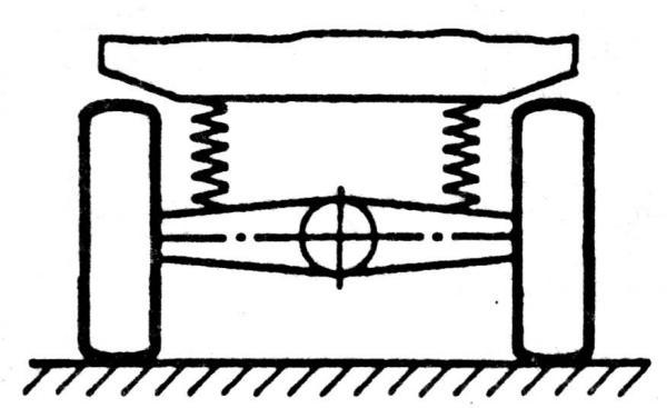 Схема зависимой подвески колес