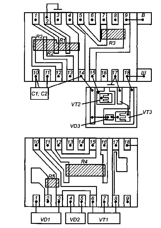 Схема интегрального регулятора напряжения Я112