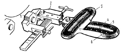 Ватерпас прибора М-2142 для определения углов установки колес