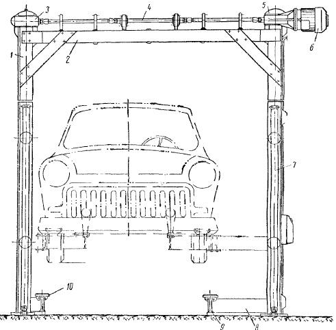Электромеханический двухстоечный подъемник