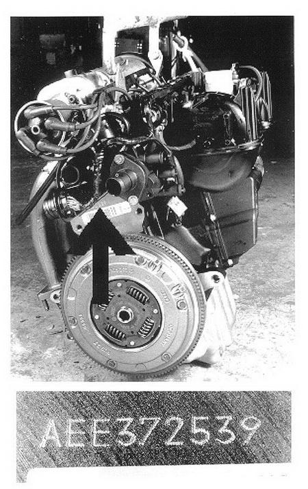 Номер на двигателе Volkswagen