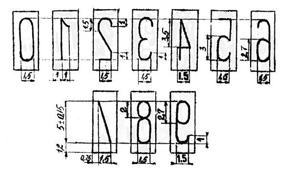 Параметры специального негостированного шрифта