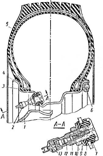 Колесо с бескамерной шиной