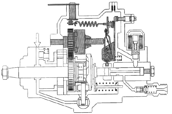 Регулятор числа оборотов двигателя