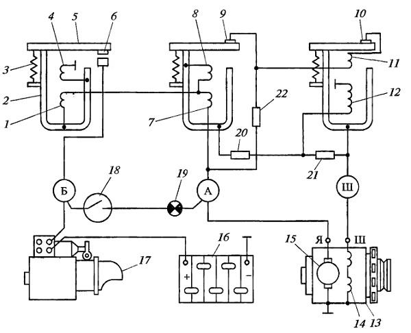 Схема реле-регулятора