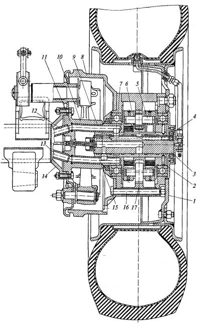 Устройство мотор-колеса с высокомоментным гидродвигателем
