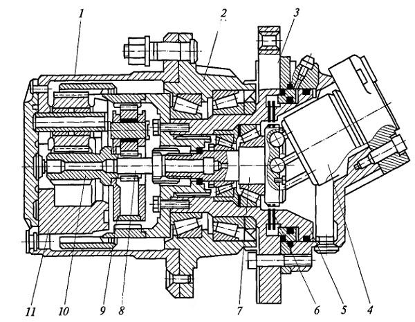 Устройство мотор-колеса с высокооборотным гидродвигателем и понижающим редуктором