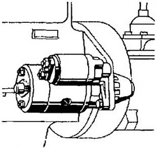 Метод фланцевой установки используется для большинства стартеров легких транспортных средств