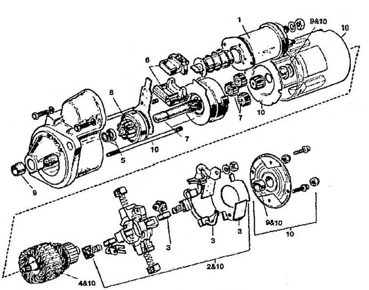 Стартер M78R/M80R (Lucas)