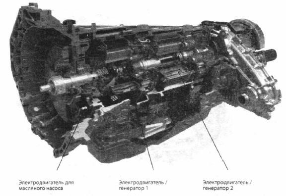 Коробка передач с двумя электродвигателями для привода