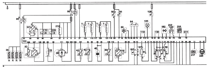 Электросхема системы управления автомобилем ФОРД 2,0 TDCi