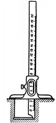 Измерение штангенглубомером