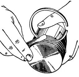 Измерение зазора в канавке поршневого кольца