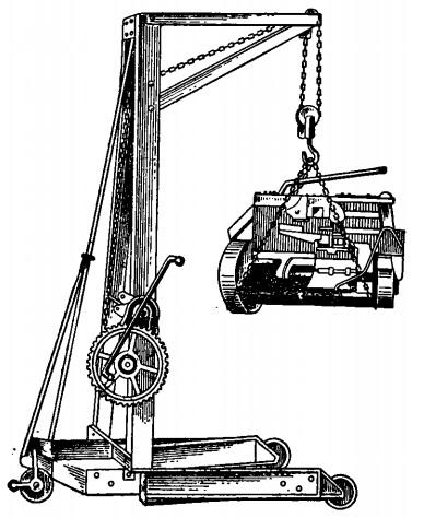 Передвижной подъемный кран