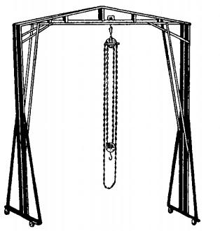 Подъемно-передвижной кран на козлах