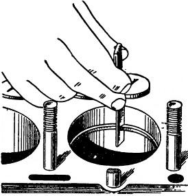 Проверка зазора в стыке поршневого кольца