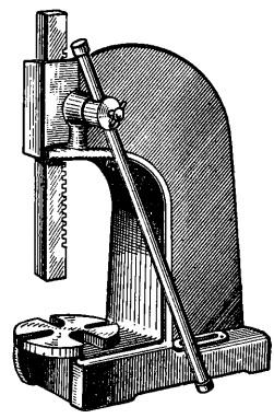 Реечный пресс, устанавливаемый на верстаке