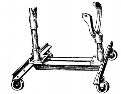 Тележка для перевозки двигателей