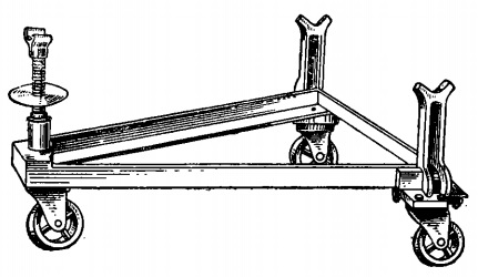 Универсальная тележка для перевозки задних мостов